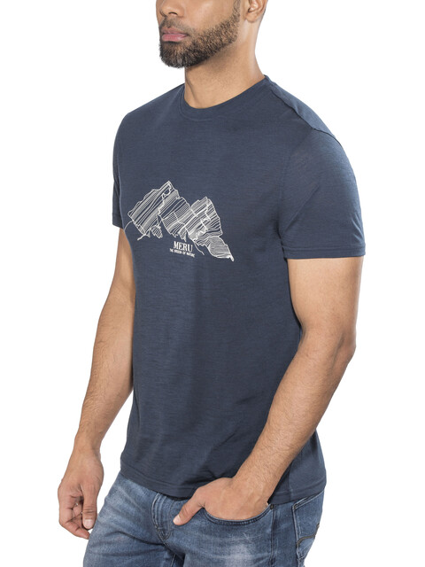 Meru Tumba Wool SS Shirt Men Dress Blue
